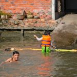Water games in Mekong