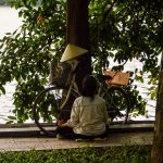 Meditation time in Hanoi