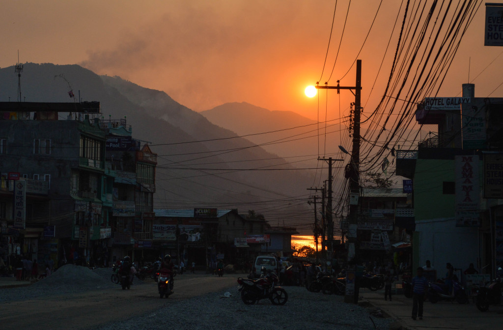 Sunset over Pokhara