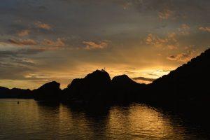 Sunset over Ti Top Island