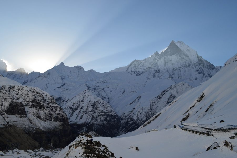 Sunrise at the Annapurna Base Camp