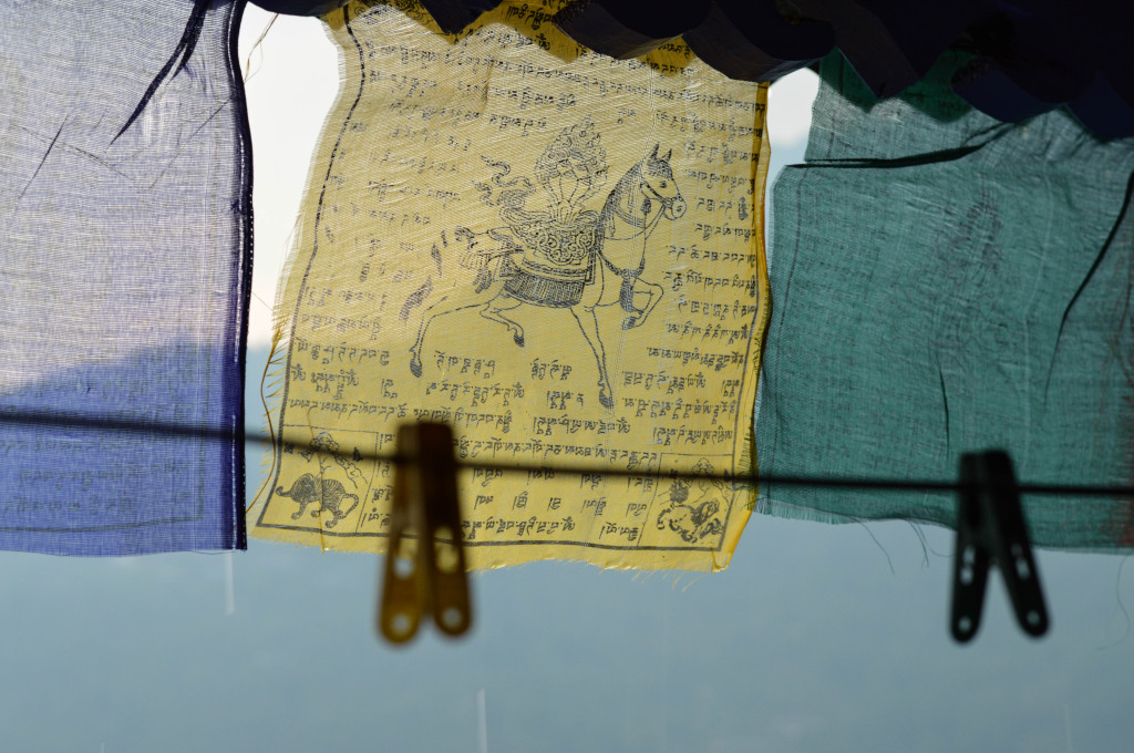 The prayer flags