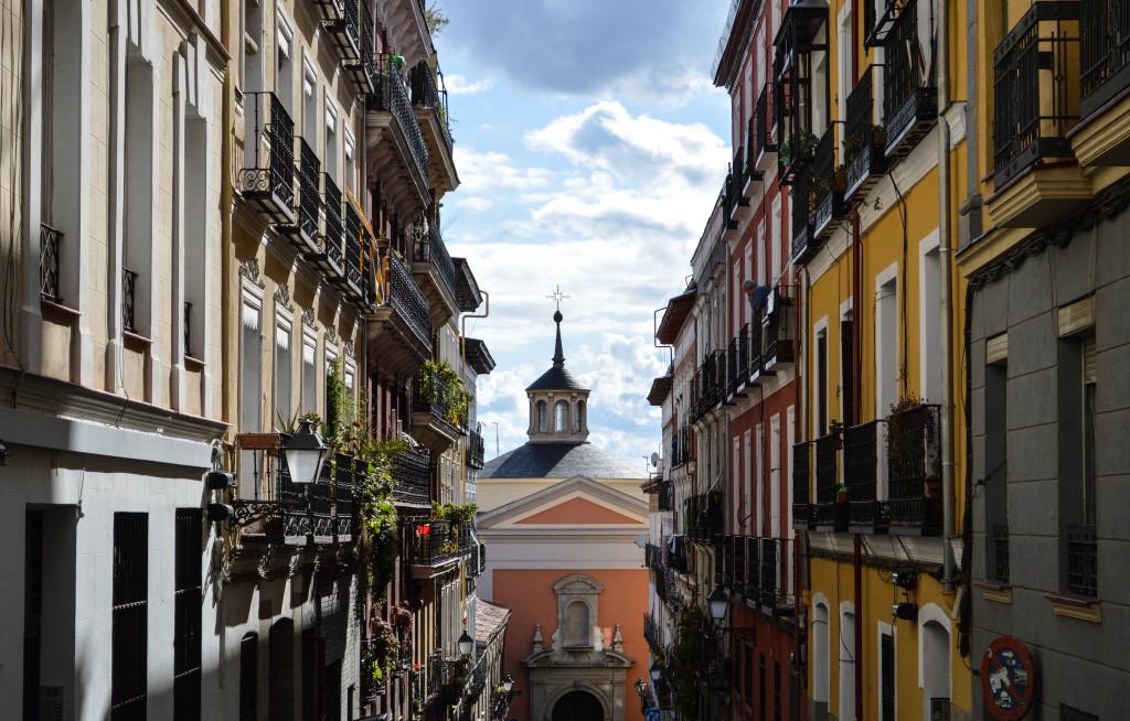 Walking around Madrid