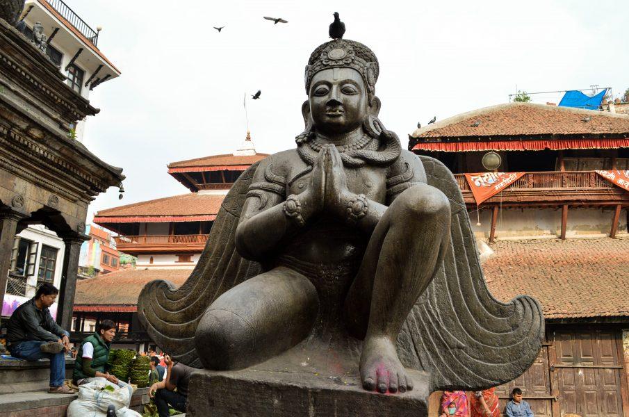 A statue of Garuda