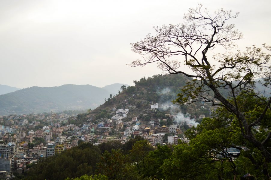 A view from the Swayambhunath hill