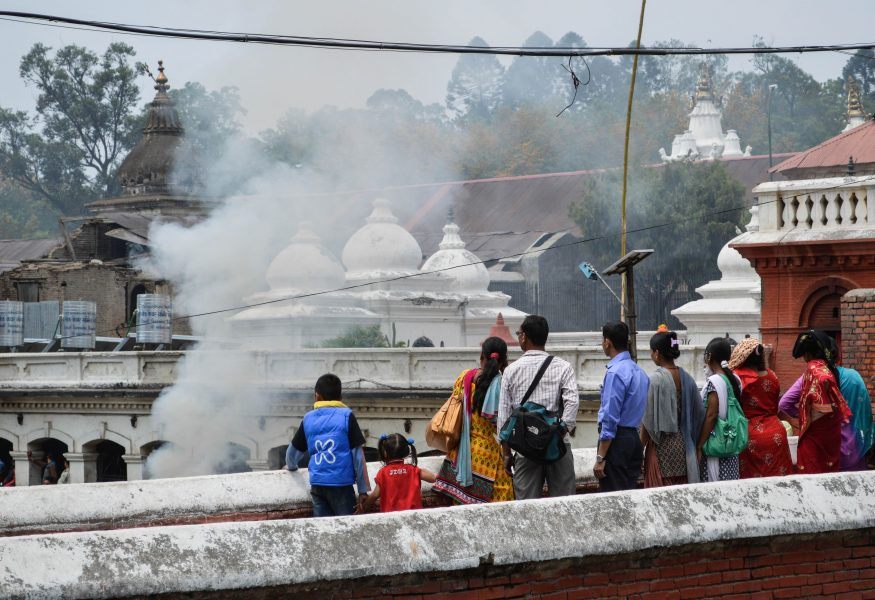 Cremation at the Pashupatinath Temple