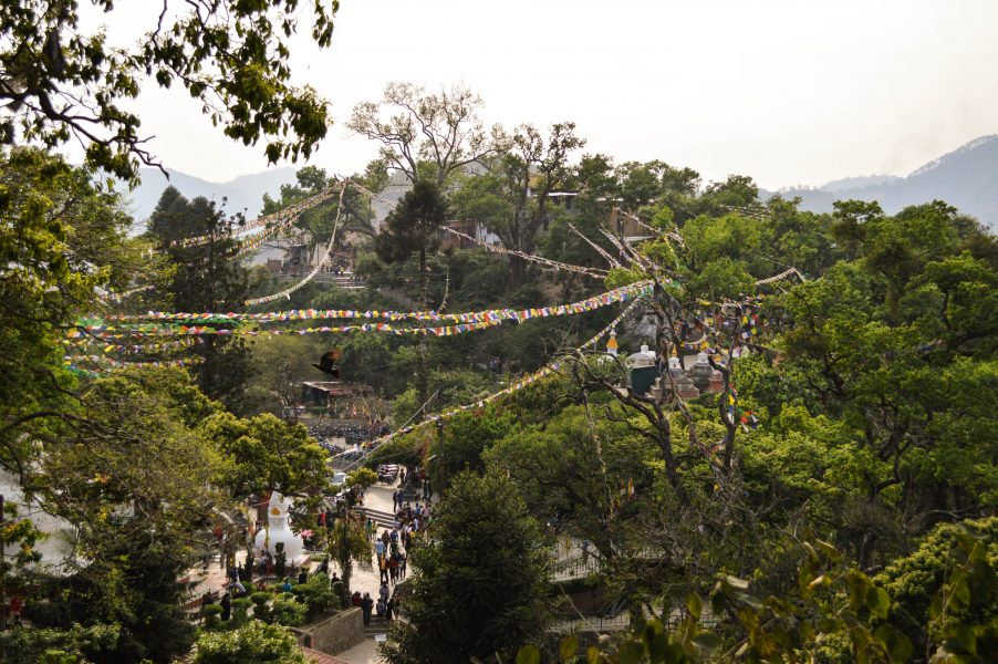 On the Swayambhunath hill