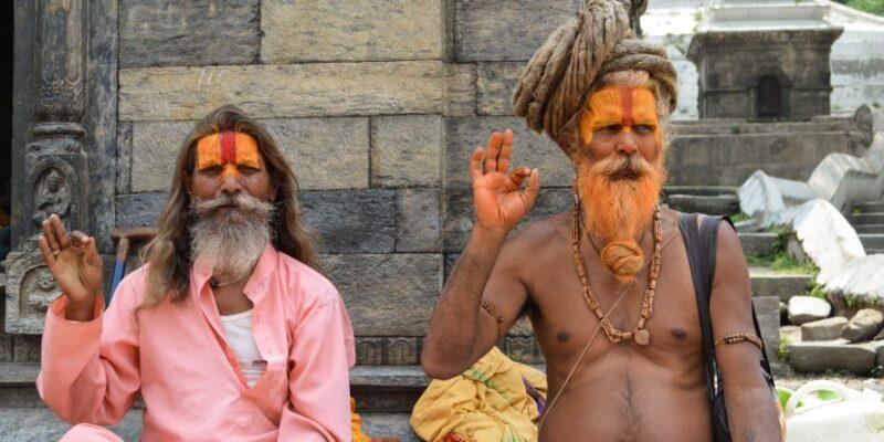 Sadhus at the Pashupatinath Temple