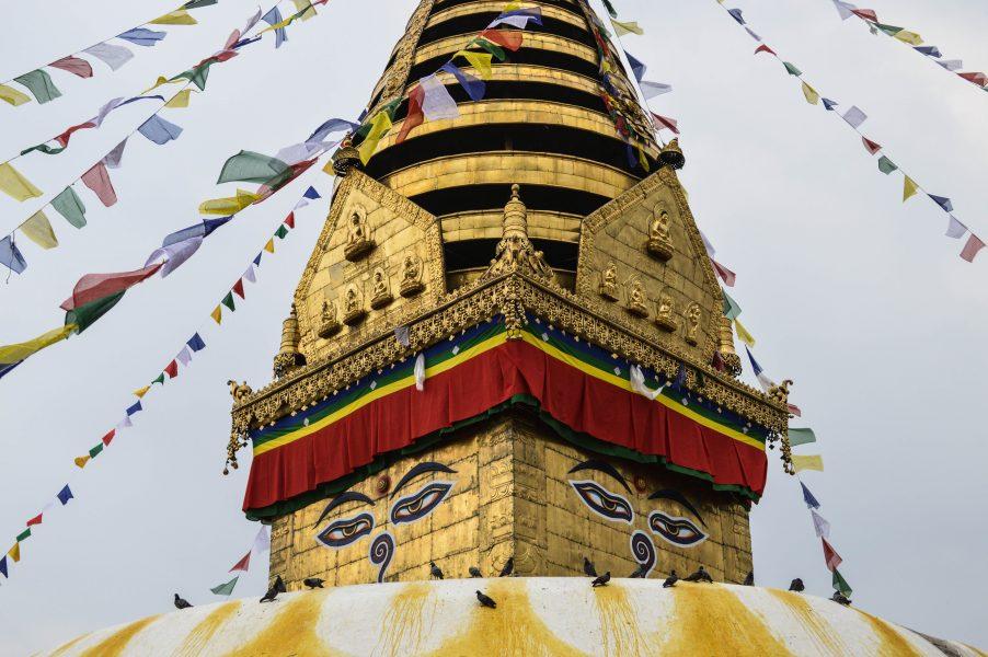 The Swayambhunath stupa