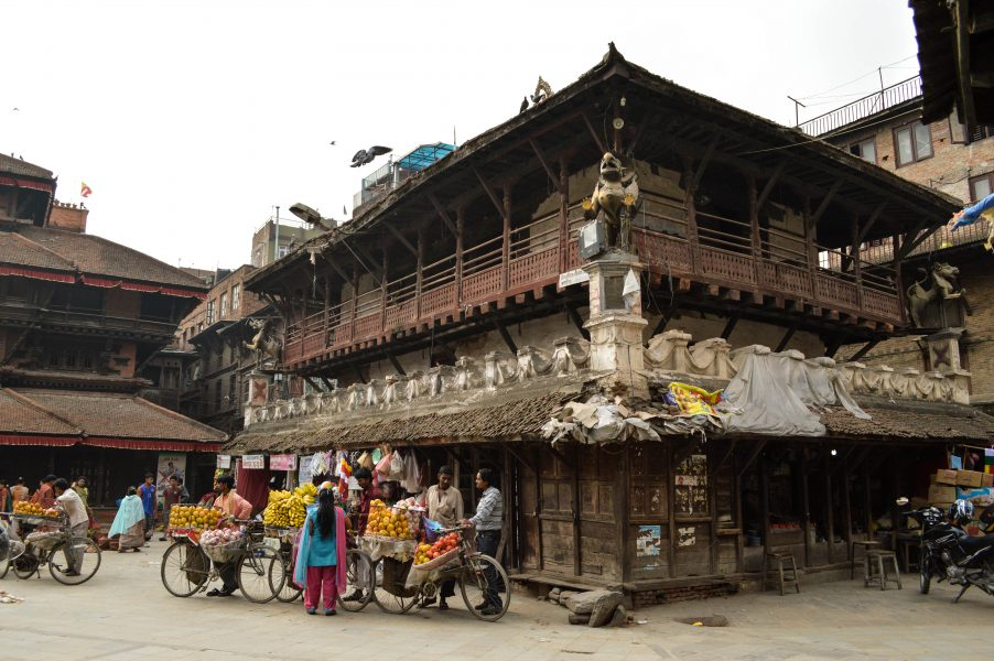 Vegetable sellers in Durbar Square