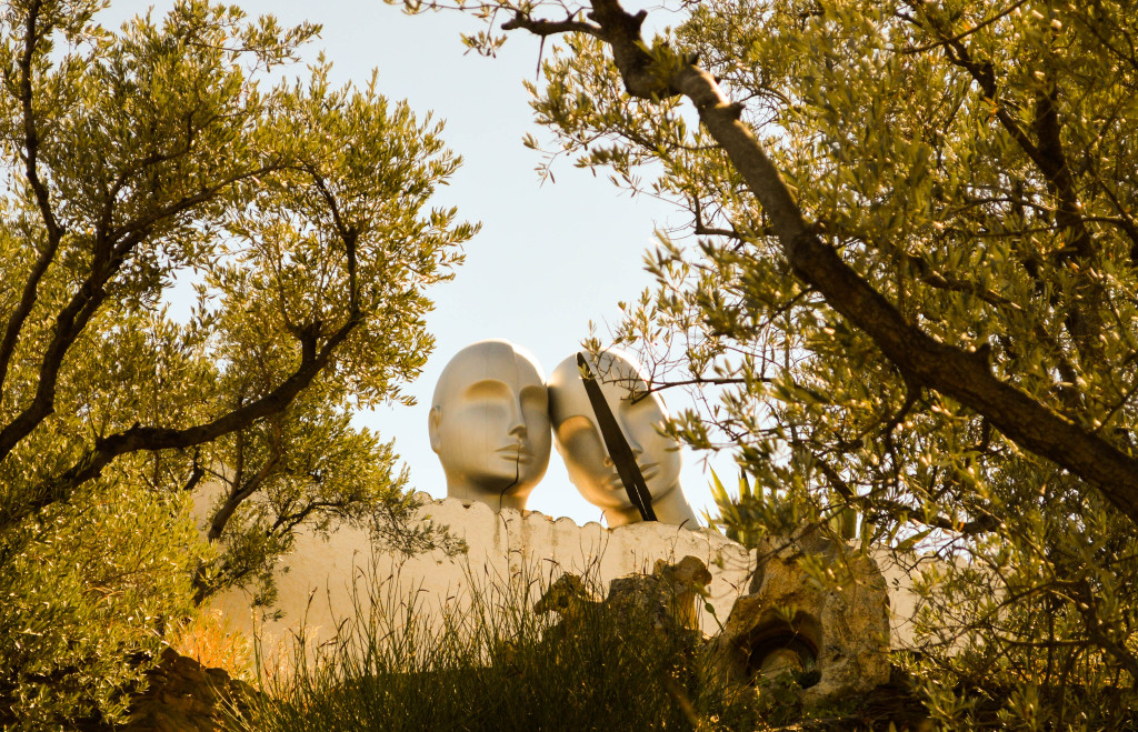 A sculpture in Dalí's garden
