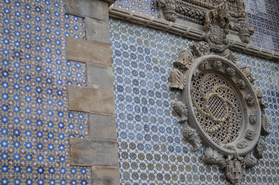 Pena Palace decorated with azulejos