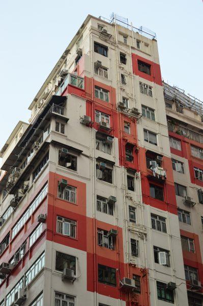 Colour blocking in Wan Chai