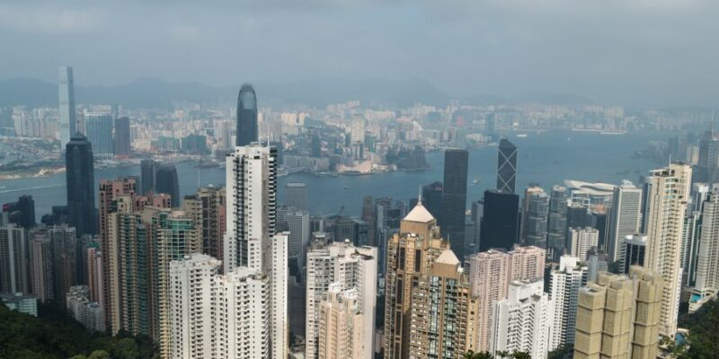 Victoria Harbour, a view from the Peak