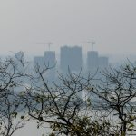 Buildings in a distance - Zhaoqing from a crag