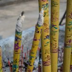 Incense sticks at the temple