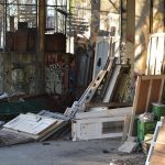 Rubbish and old furniture at the Teufelsberg