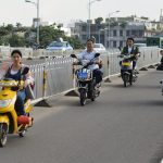 Scooter traffic in Haikou