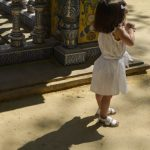 Little girl at the Plaza de España