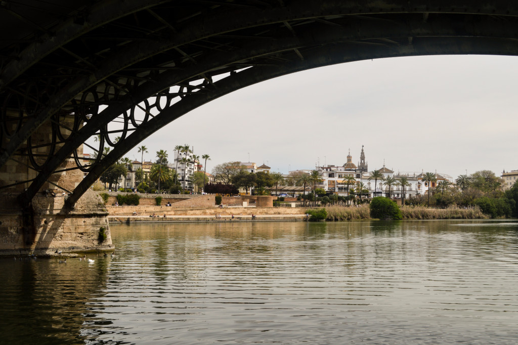 Under the Triana Bridge