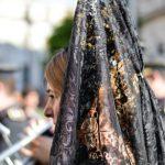 Woman wearing mantilla