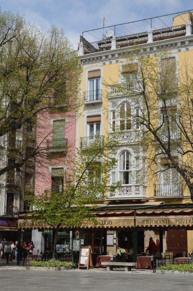 Buildings in Plaza de Bib-Rambla