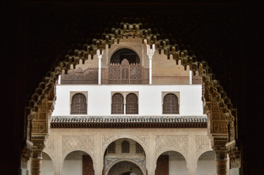 A courtyard at the Nasrid Palaces