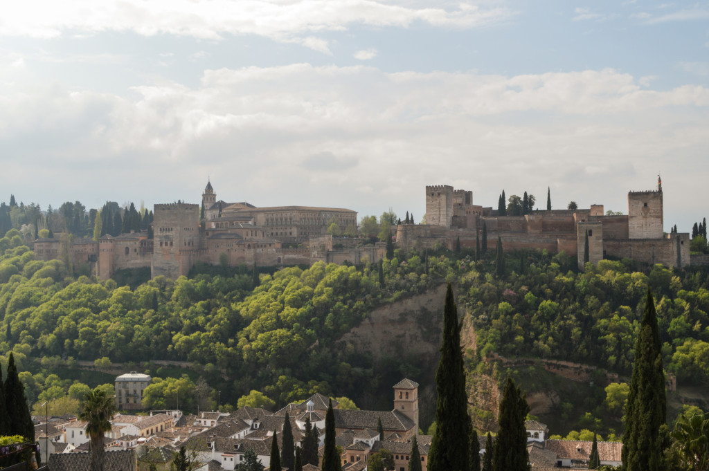View of the Alhambra from the St Nicholas viewpoint