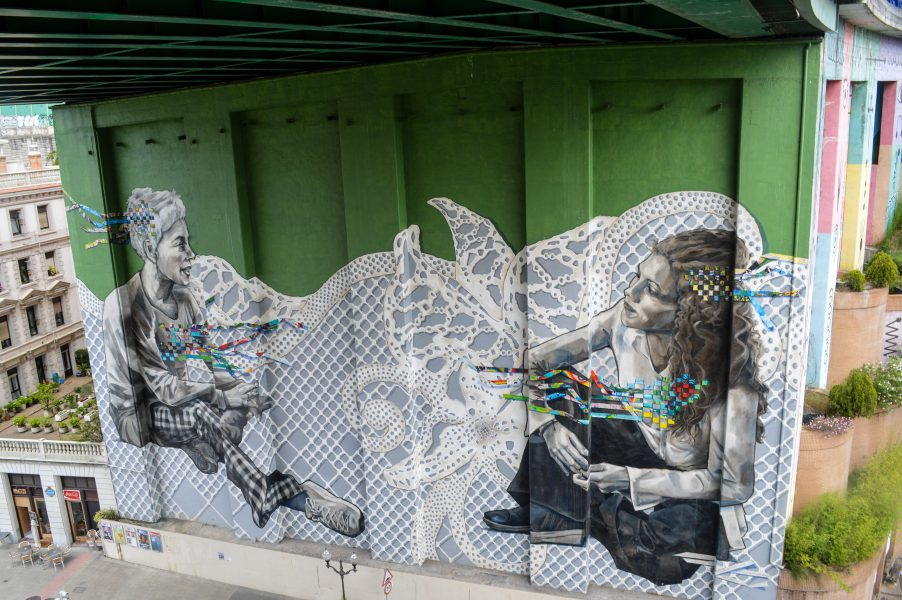 A mural in Bilbao