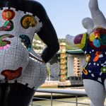 A sculpture by Niki de Saint Phalle