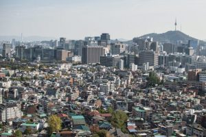 A view of Seoul from Inwangsan