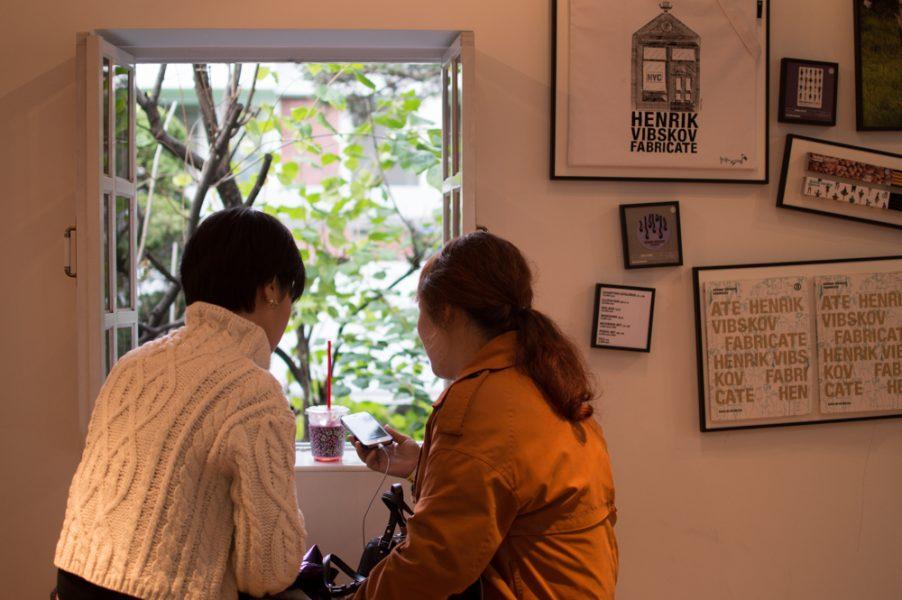 Post-exhibition coffee