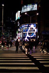 Seoul pedestrian crossing