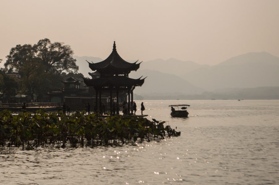 Huxin Pavilion on West Lake