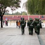 Soldiers at the Tiananmen Square