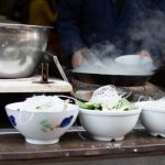 Steaming noodle soups