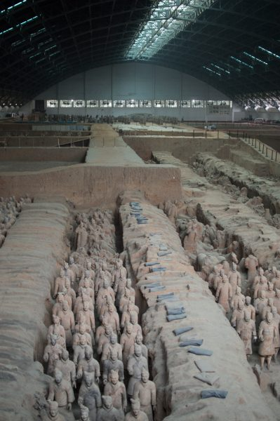 The excavation pit of the Terracotta Army