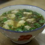 Very fatty wonton soup