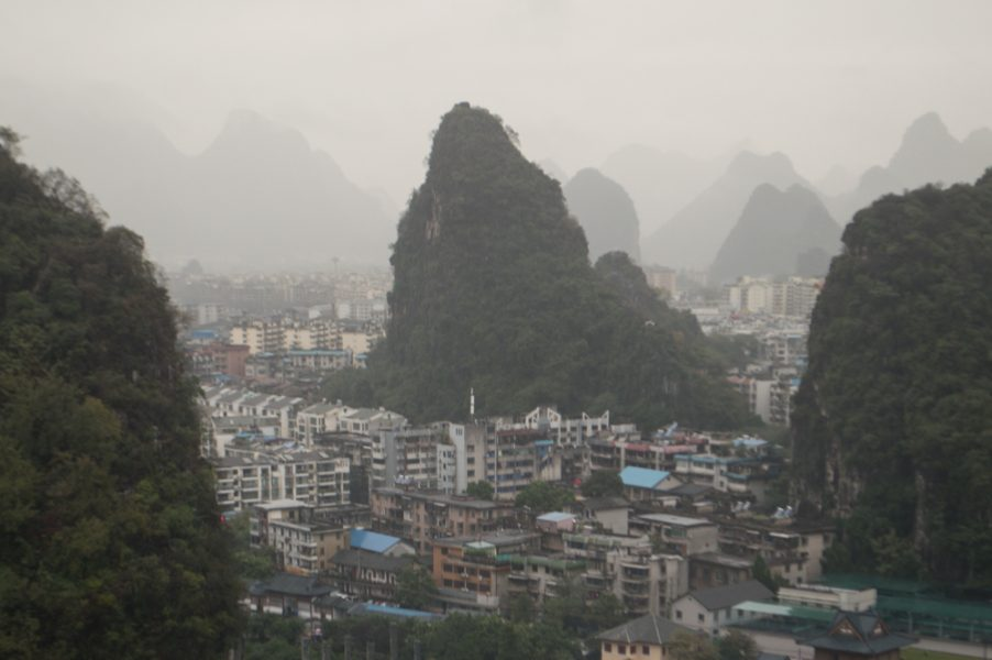 Limestone mountains in Guilin