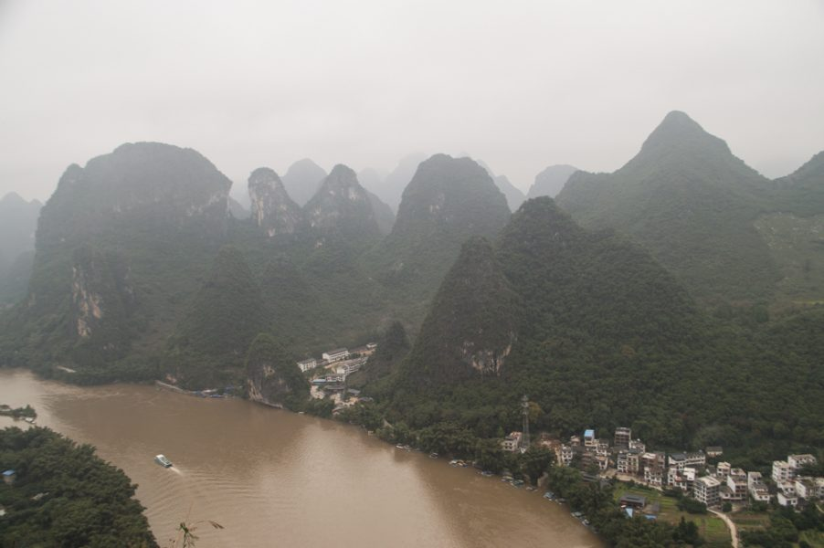 Karst mountains around Xingping