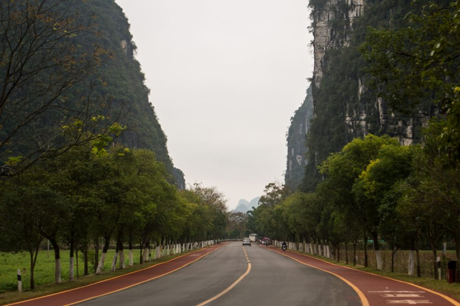 On the road to Xingping