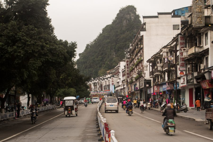 Pantao Road in Yangshuo