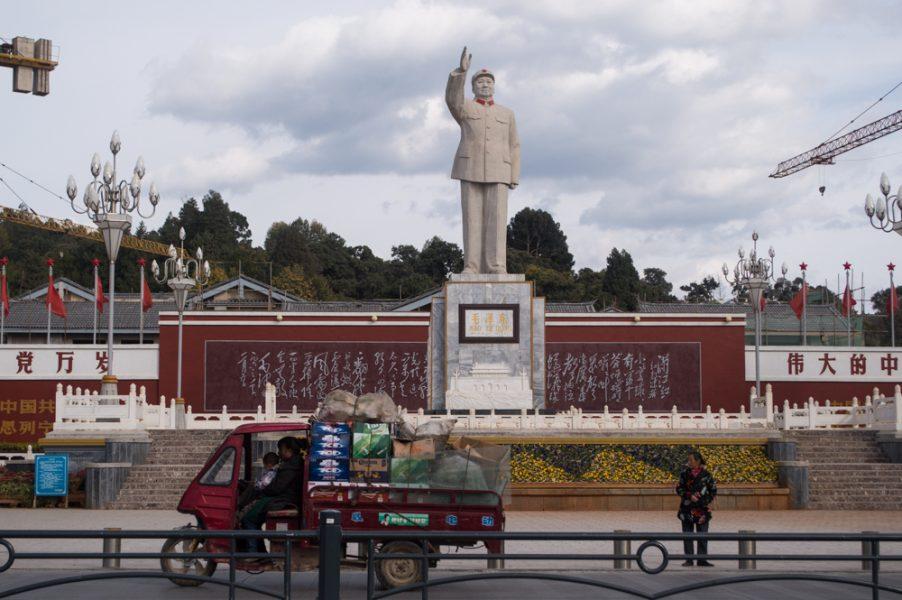 Mao Zedong Statue in Lijiang