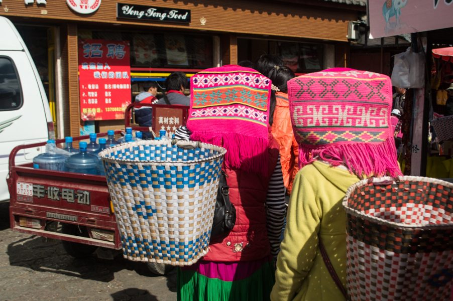 Women shopping at Zhongyi Market