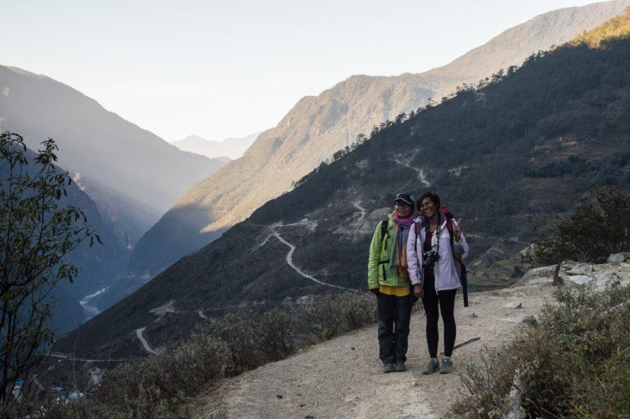 Celine and Mas – My hiking companions