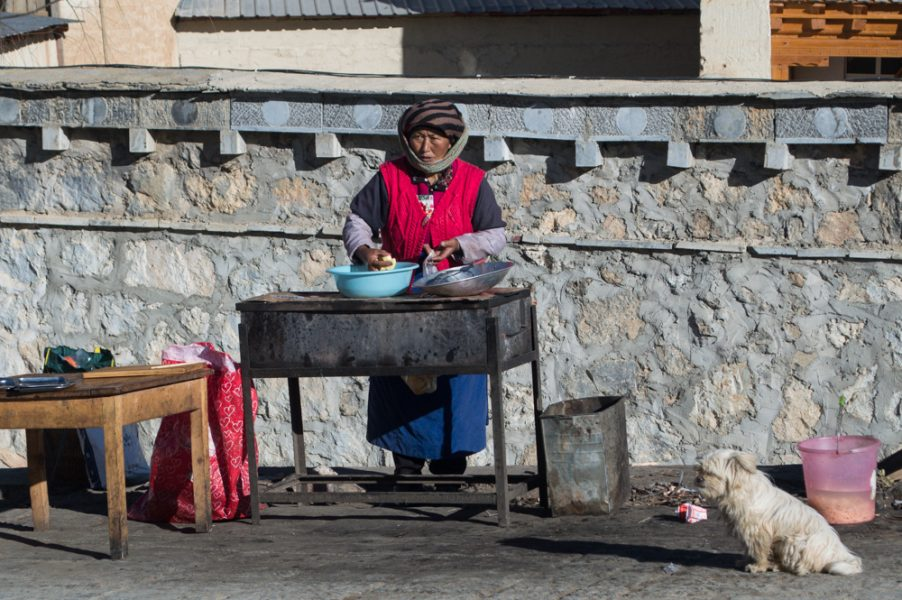 Local Woman in Shangri-La