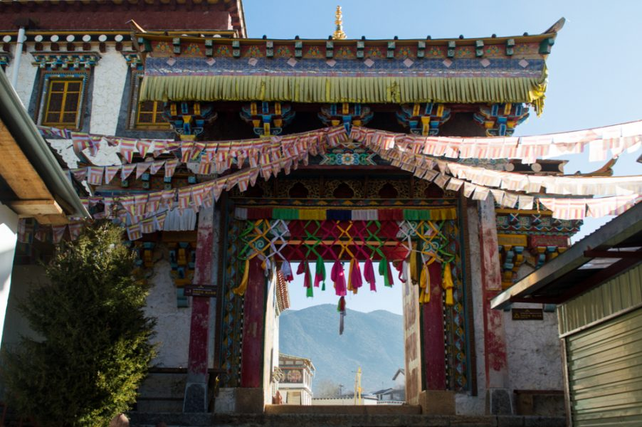 One of the gates at the Songzanlin Monastery