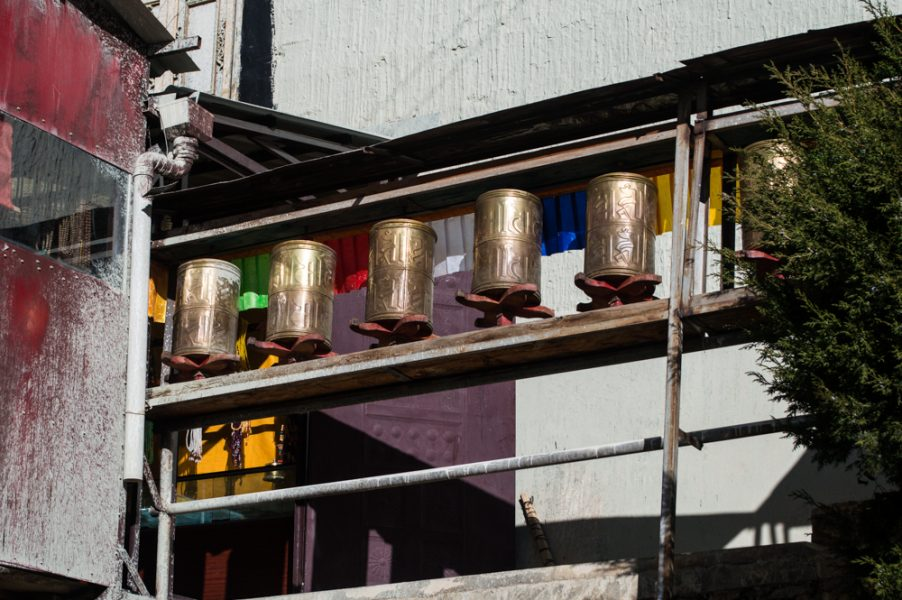 Prayer wheels at the Songzanlin Monastery