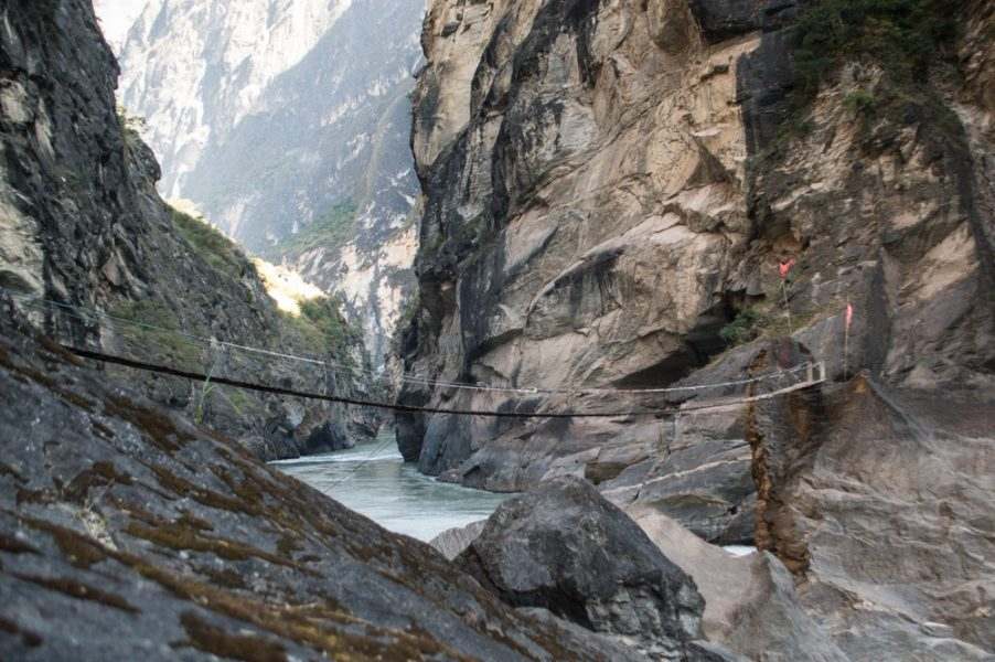 Rickety Bridge at Tiger Leaping Gorge