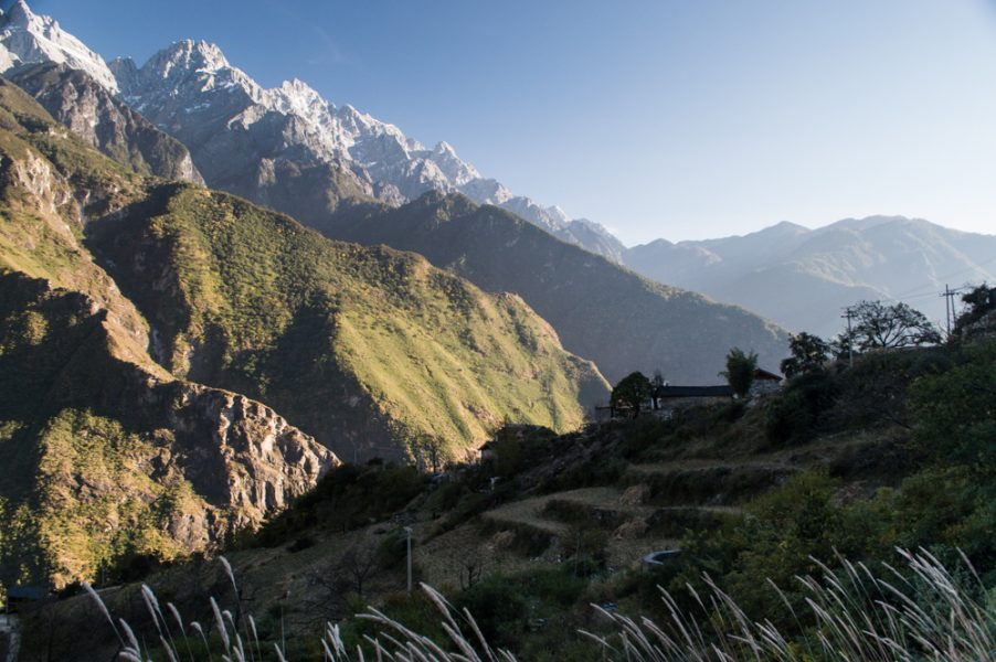 Small village in the Tiger Leaping Gorge